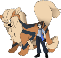 Trainer Dusty and Arcanine by Tigryph