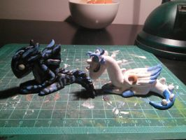 Clay Mini Acnologia and Starry Sky 3 by BlackWhooves