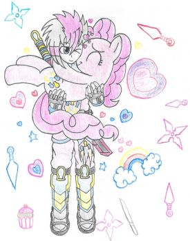 Pinkie Nuzzles (Color) by PiplupSTARSCommander
