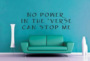 Firefly - No Power in the Verse Wall Decal by GeekeryMade
