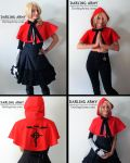 Ed Elric Fullmetal Alchemist Red Hooded Capelet by DarlingArmy