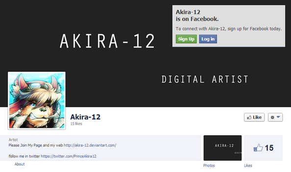 Like me on Facebook. by Akira-12