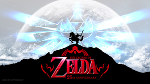 The Legend Of Zelda 25th Anniversary Wallpaper by HappyMaskLP