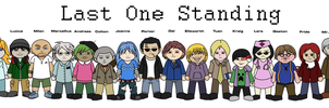 Last One Standing banner/character designs by MetaFrosty