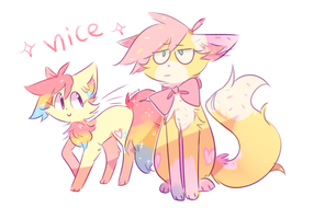 Two Cats One 'Nice' by Milkii-Ways