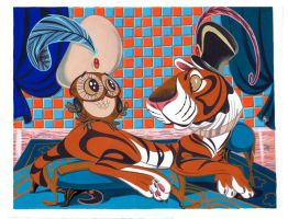 Aladdin Tiger and Owl by Pocketowl