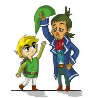 Linebeck and Link by JackSkelling10