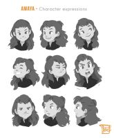Amaya_Character Expressions by Sihx