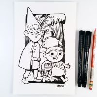 Inktober Day 17 - Over the Garden Wall by D-MAC