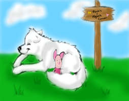 Napping At Pooh Corner by Crystalthewhitewolf