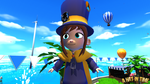 Hat Kid Wearing Badges by Habboi