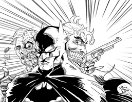 batman vs 2 by BIG-D-ARTiZ
