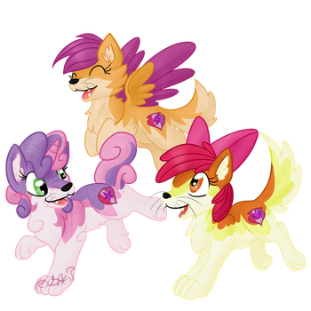 Cutie Mark Crusader-puppies by Usagi-Zakura