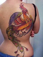 phoenix tattoo by mojoncio