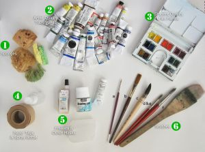 My Watercolor Tools by ~KelliRoos