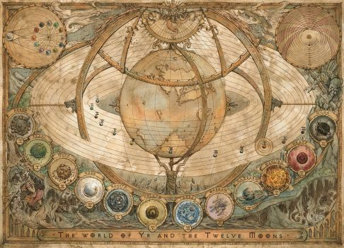 The World of Yr and the Twelve Moons Map by FrancescaBaerald