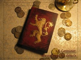 Diary Vociferous (Lannister, Game of Thrones) by Svetliy-Sudar