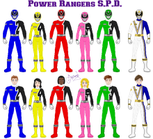 Power Rangers SPD by Ameyal