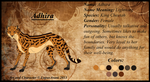 Reference Sheet of Adhira by LupusAvani