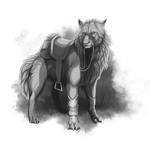 Commission: riding wolf by Brevis--art