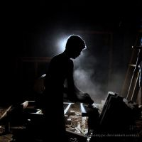 Man at work by princemypc