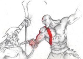 kratos vs griffin rider by domarcus7