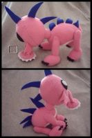 Daisy the Chupacabra Plushie by VesteNotus