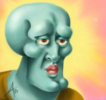 Squidward, handsome Squidward by millegas