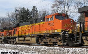 The Golden Swoosh logo BNSF # 7695 by EternalFlame1891