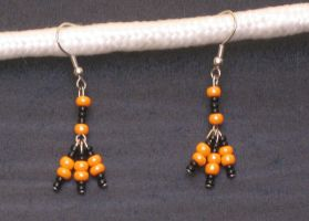 Halloween Tridrop Earrings by LadyTal
