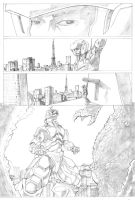 Godzilla Vs. MechaGodzilla pg 1 pencils by TGping