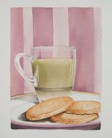 Green Tea and  Cookies by pumkin54