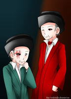 + Euler (Corrupted Right Eye) and Alter Ego + by Serket-XXI