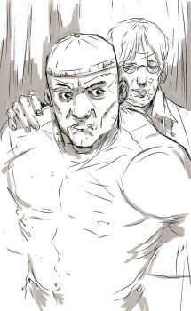 luke cage and creepy doctor by Wingthe3rd