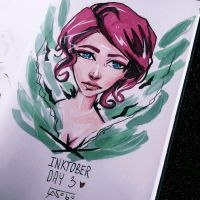 INKtober 2016: Day 3 - red from transistor by as-obu