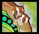 Slow Lorises as Totem by Ravenari