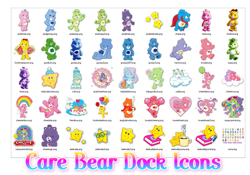 Care Bear Dock Icons by ShaiBrooklyn