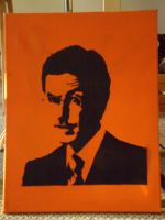 Stephen Colbert Stencil by moon-glaze