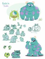Monsters Inc. Doodles by princekido