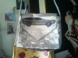 Duct Tape Delorean Purse by UnderCoverCottonswab