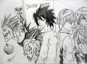 Death Note-Stars and SHinigami by MissTsukii