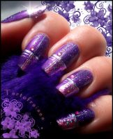 beautiful purple and pink foil by Tartofraises