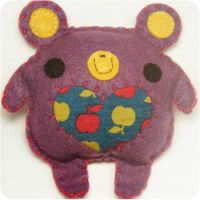 Apple the Purple Bear by hellohappycrafts
