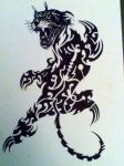 Panther tribal by gbftattoos