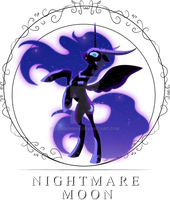 Queen Nightmare Moon - Lady of Dark Dreams by ZidaneMina