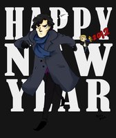 HAPPY NEW YEAR - Sherlock by vanipy05