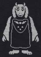 Toriel cross stitch by Lil-Samuu