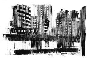 Library and Gratiot II by DarylAlexsy