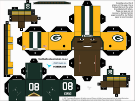 Donald Driver Packers Cubee by etchings13