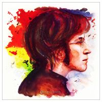 John Lennon Watercolor by IsaiahStephens